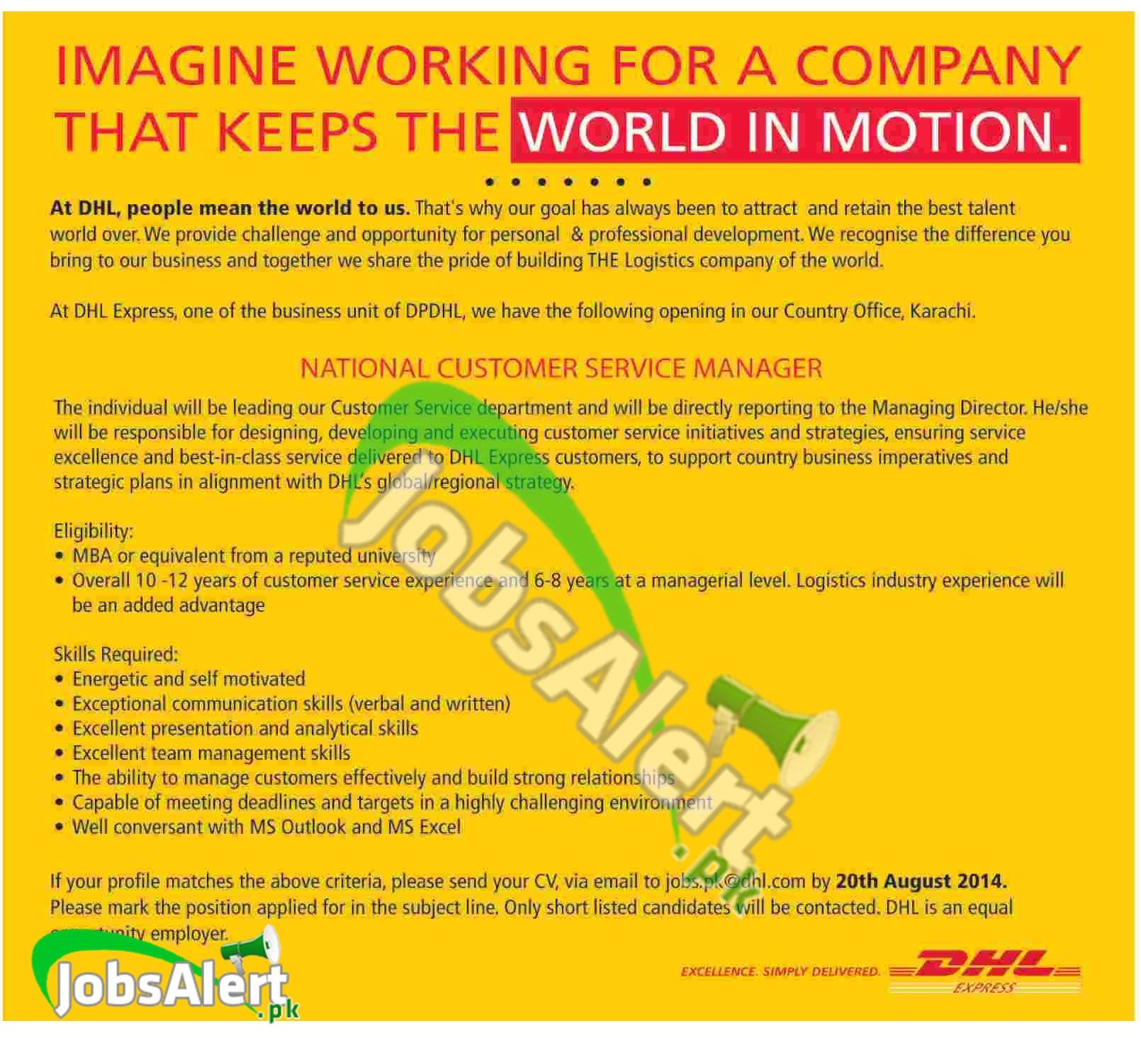 dhl express jobs opportunities apply online