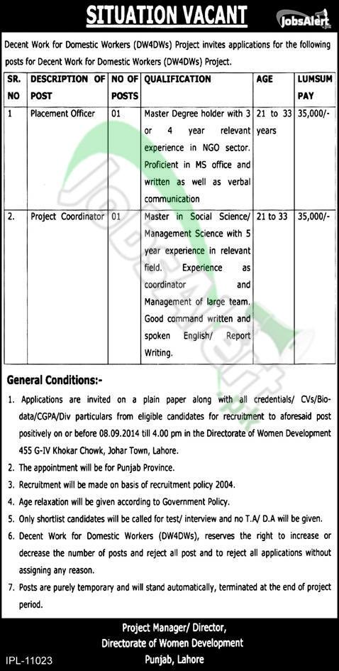 Directorate of Women Development Punjab, Lahore