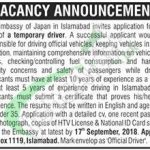 Japan Embassy Islamabad Jobs