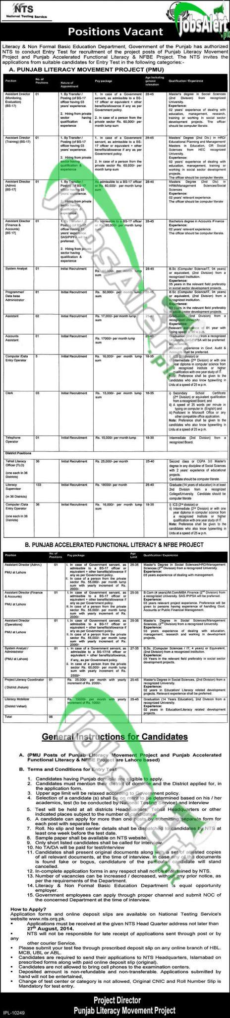 Punjab Literacy Movement & NFBE Project