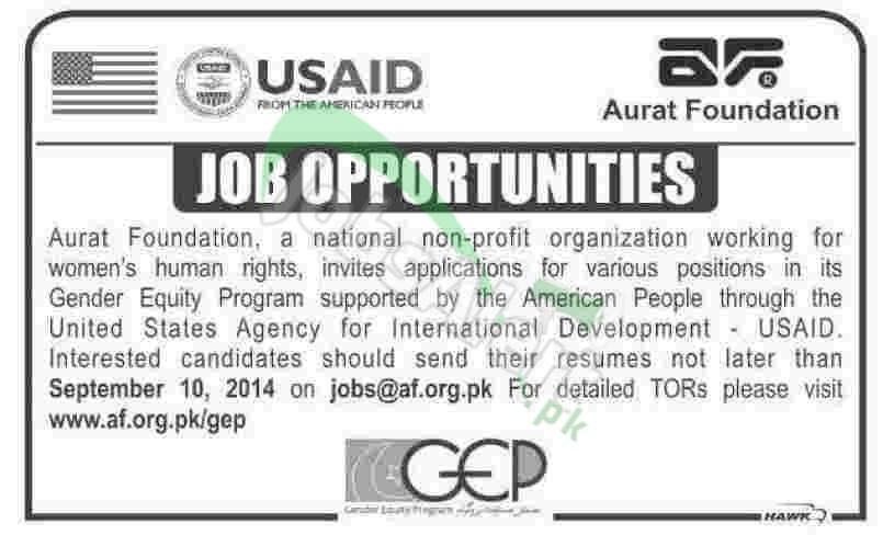 USAID Pakistan Aurat Foundation Organization