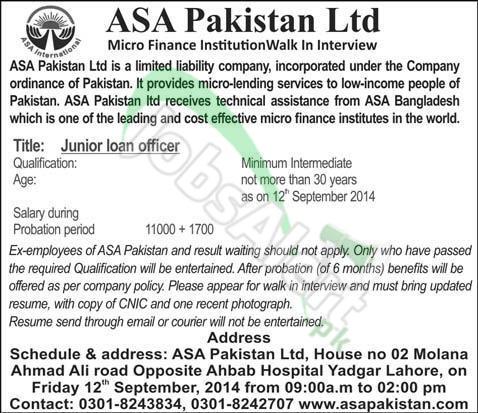 ASA Pakistan Ltd.