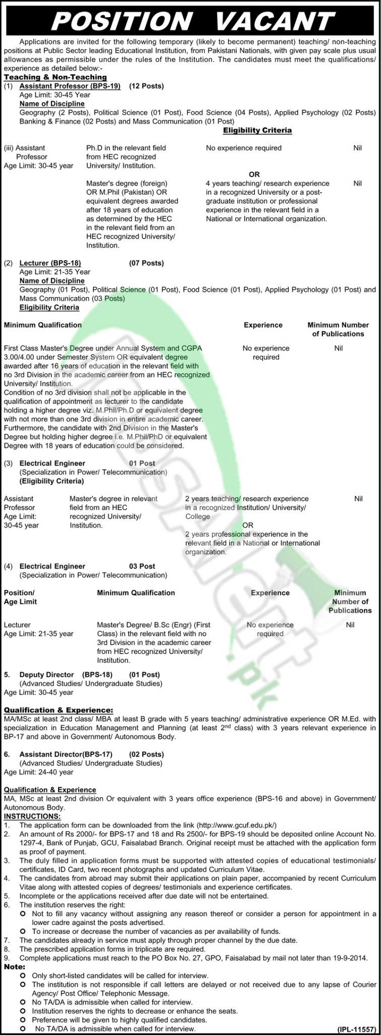Govt College University Faisalabad