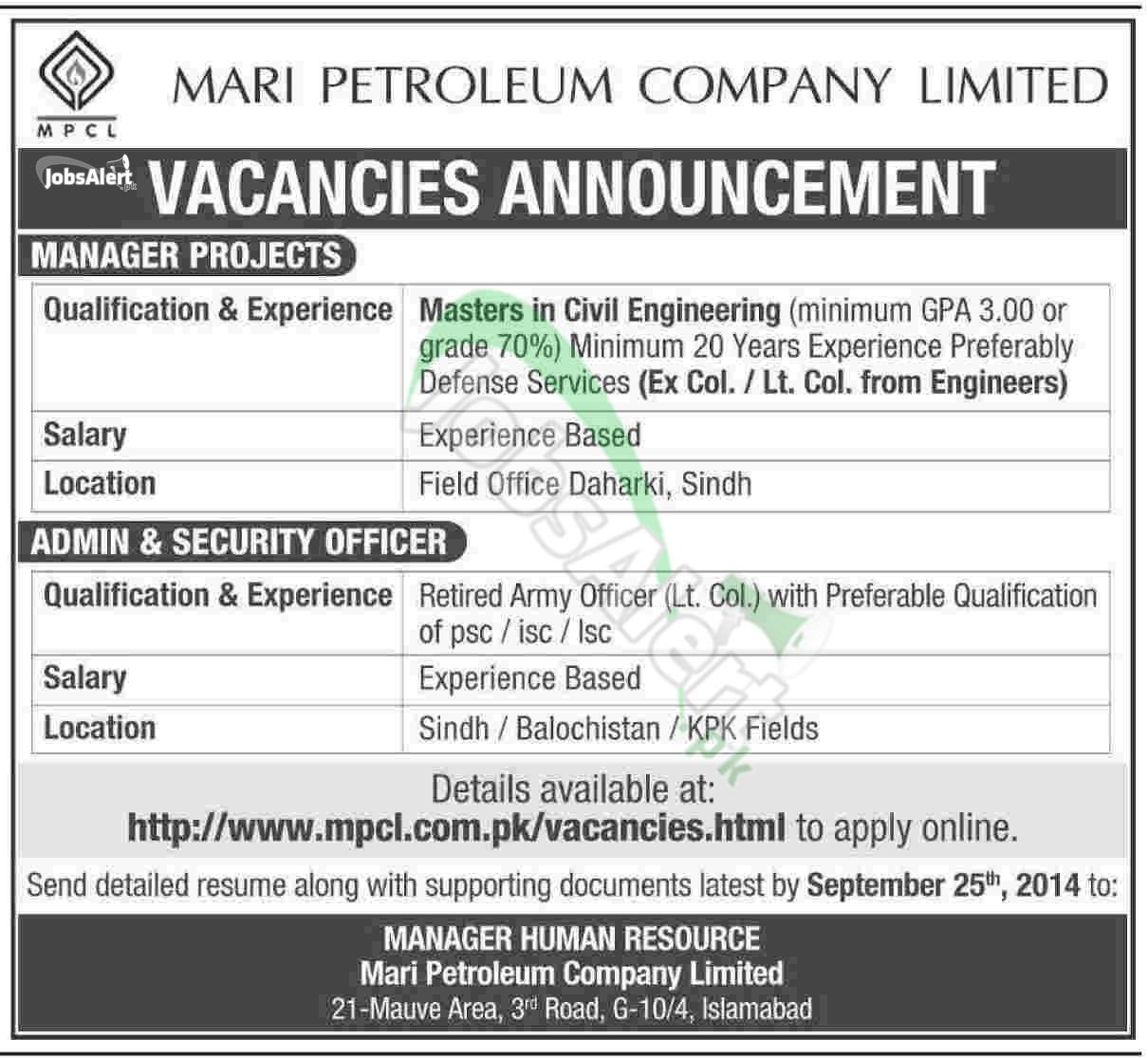 Mari Petroleum Company Ltd (MPCL)
