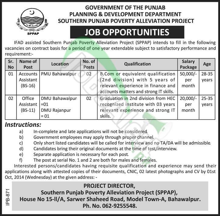 Planning & Development Deptt Punjab