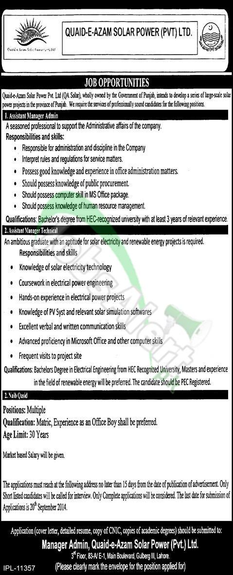 Quaid-e-Azam Solar Power Pvt Ltd