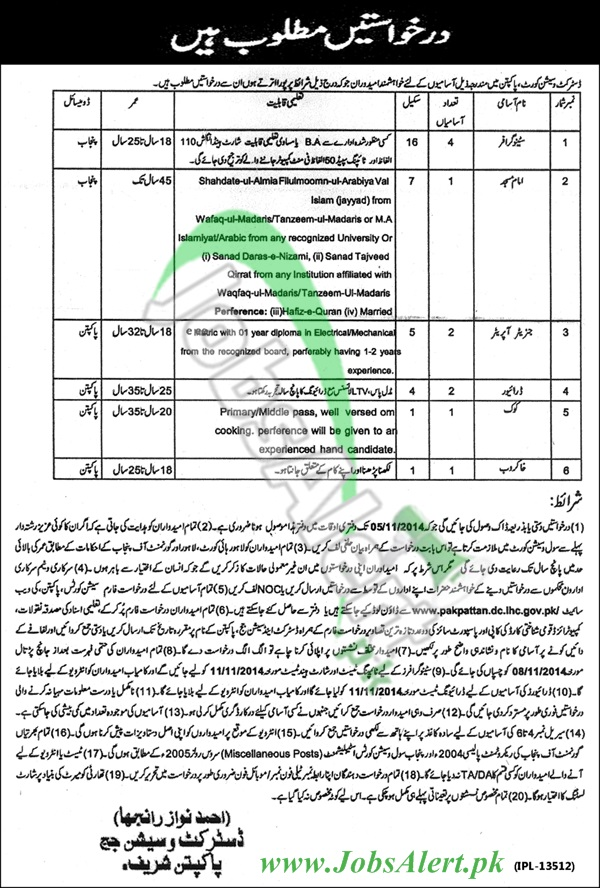 District and Session Court Pakpattan