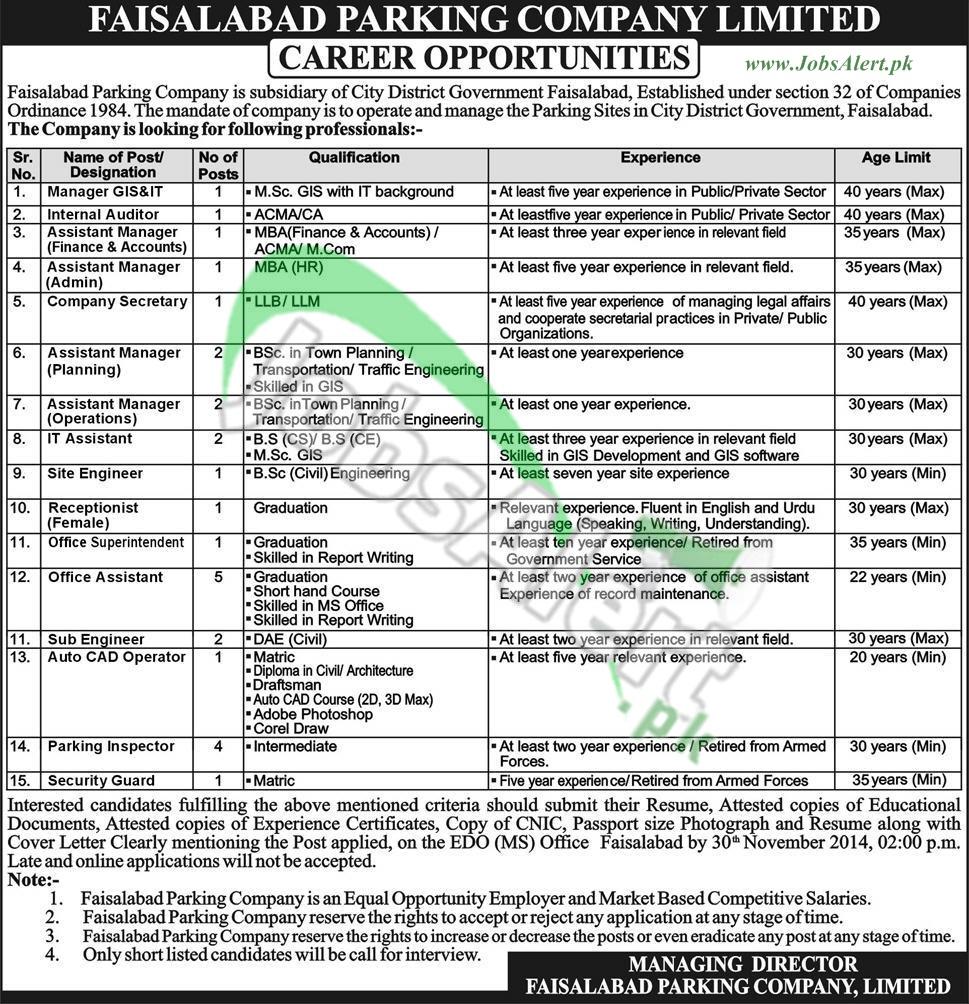 Faisalabad Parking Company Ltd