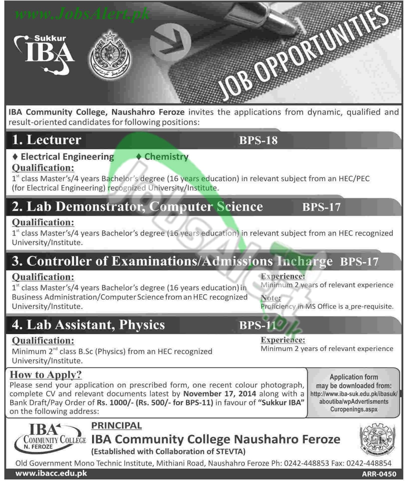 IBA Community College Naushahro Feroze