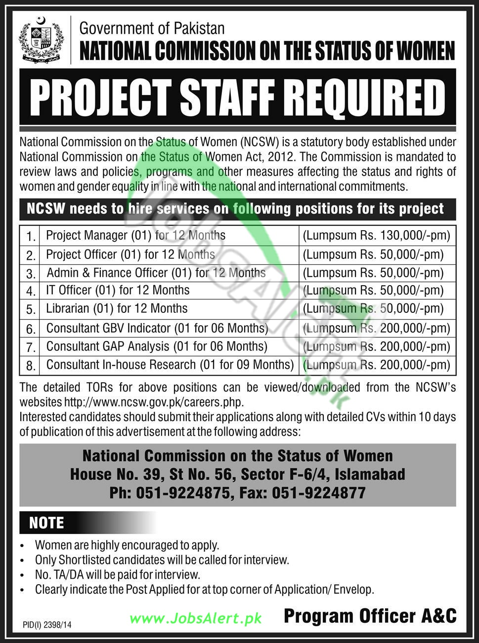 National Commission on the Status of Women (NCSW)