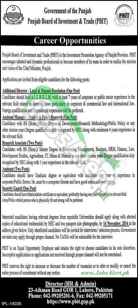 (PBIT) Punjab Board of Investment & Trade