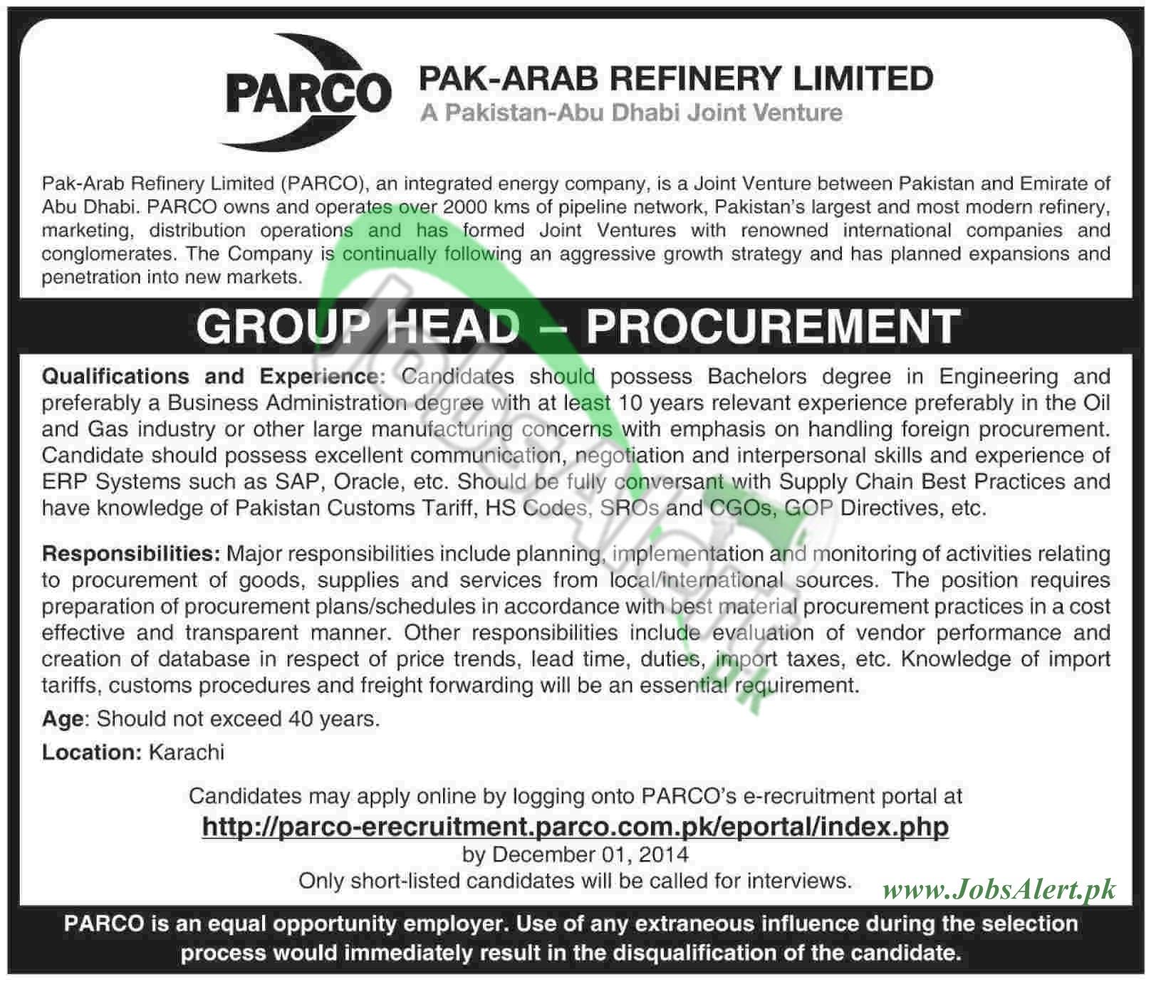 Pak Arab Refinery Ltd (PARCO)