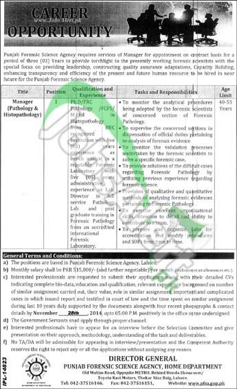 Punjab Forensic Science Agency (PFSA)