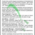 Coats Pakistan Jobs Dec 2014