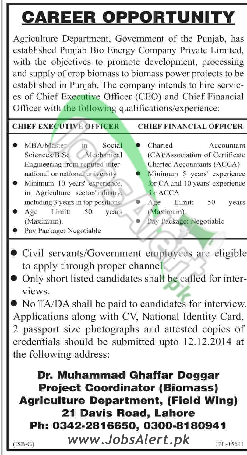 Govt of Punjab Agriculture Department