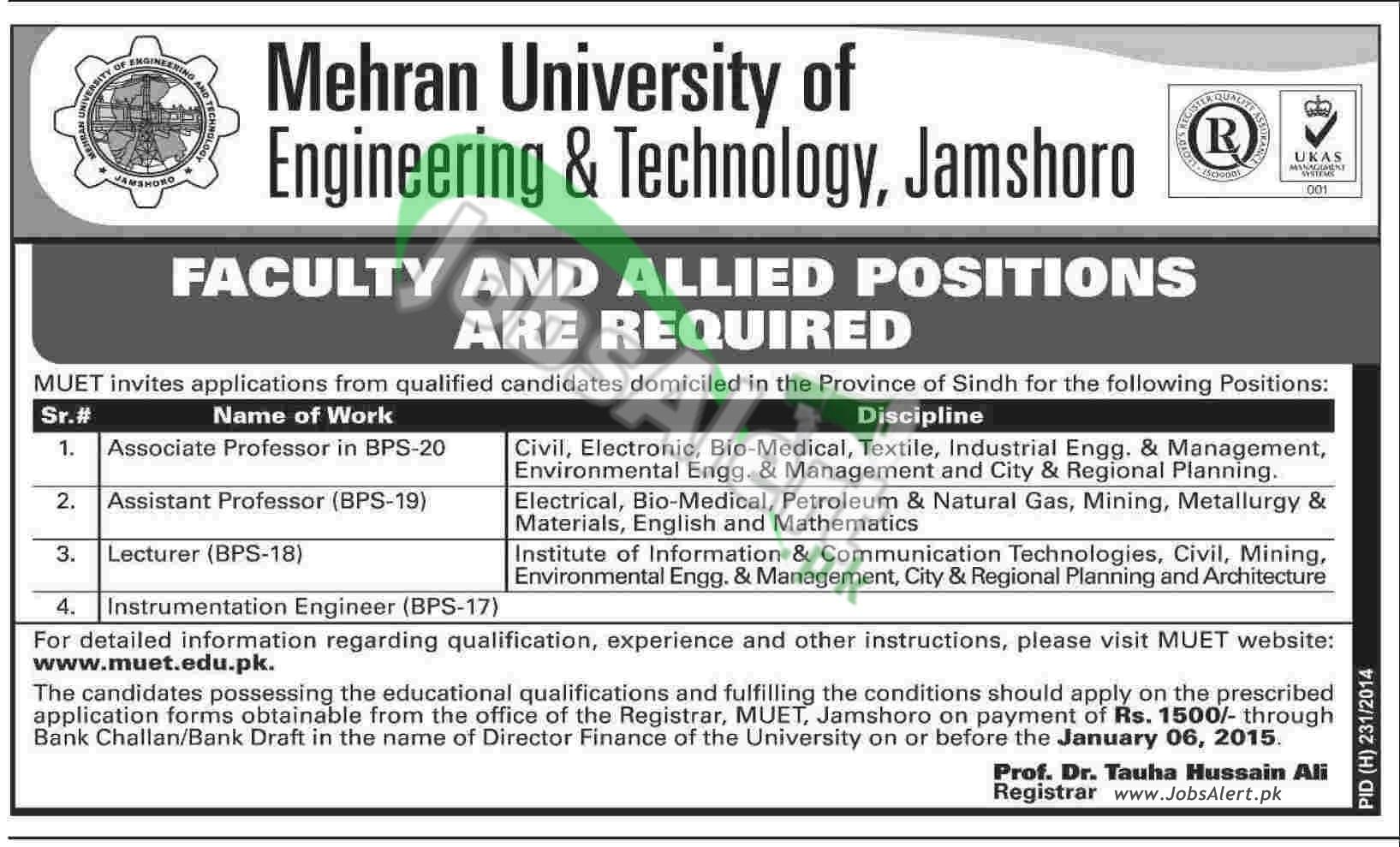 Mehran University (MUET) Jamshoro