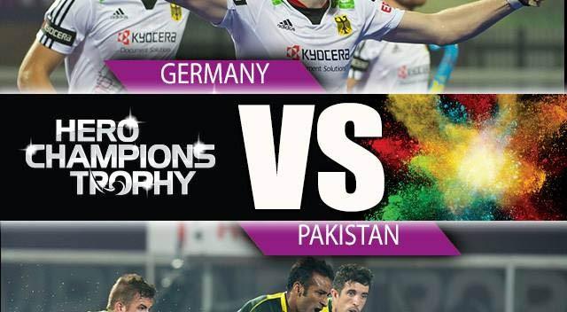 Pakistan vs Germany Hockey Final Match Live 2014 Hero Champions Trophy
