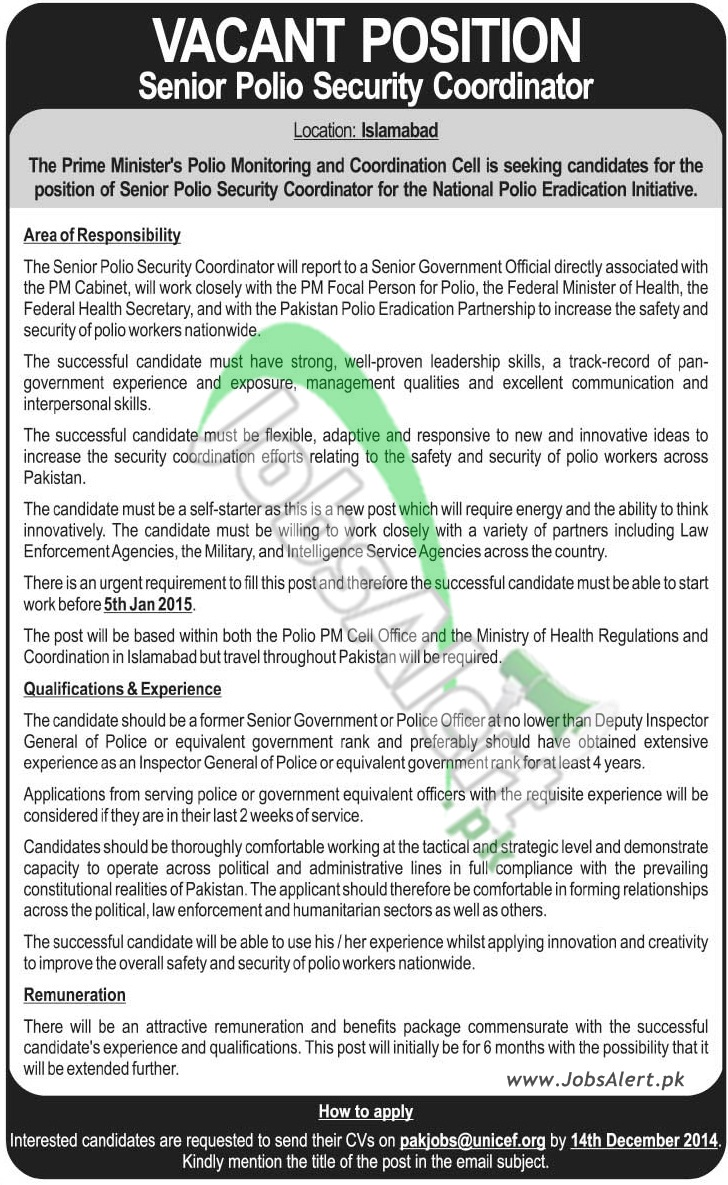 Prime Minister Polio Monitoring & Coordination Cell