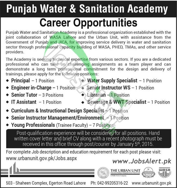 Punjab Water & Sanitation Academy WASA Lahore