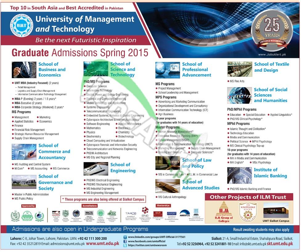 UMT University of Management & Technology