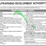 ZDA Zulfikarabad Development Authority Management Staff Jobs 2014