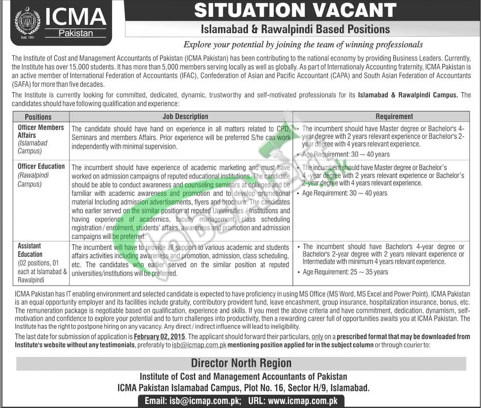 Institute of Cost and Management Accountants of Pakistan