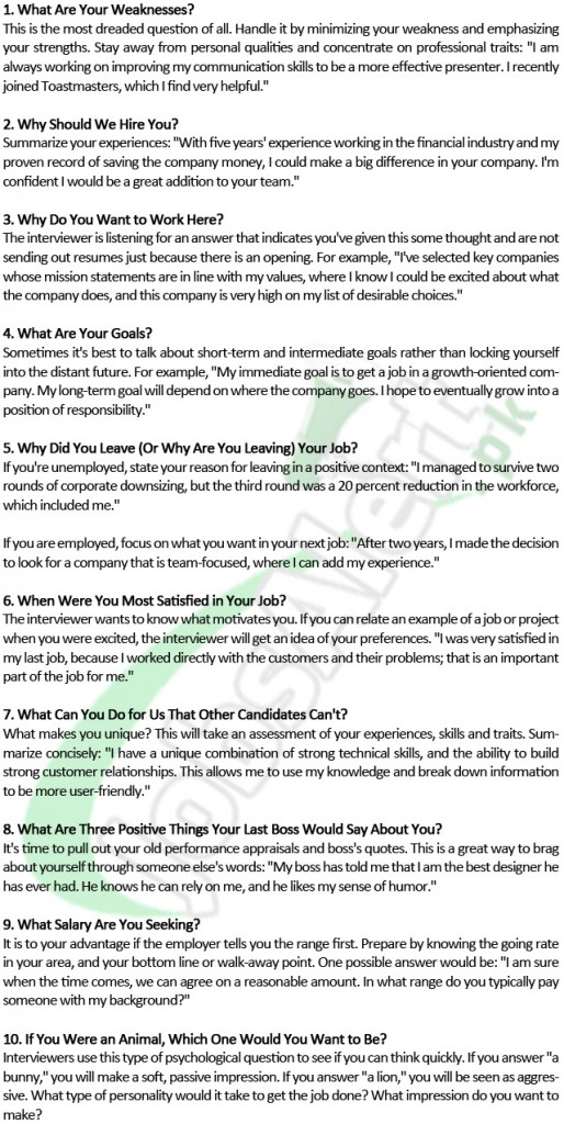 Top interview questions and answers for insurance jobs ...