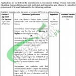 Government College Women University Faisalabad Jobs