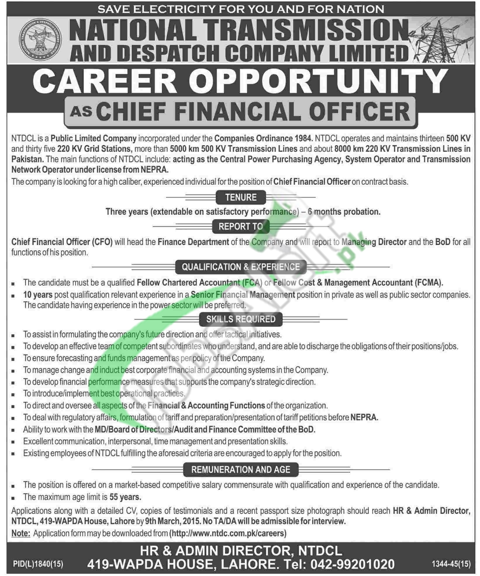 National Transmission & Despatch Company Jobs