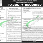 Abdul Wali Khan University Jobs