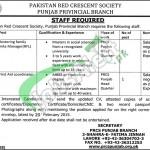 Pakistan Red Crescent Society Jobs