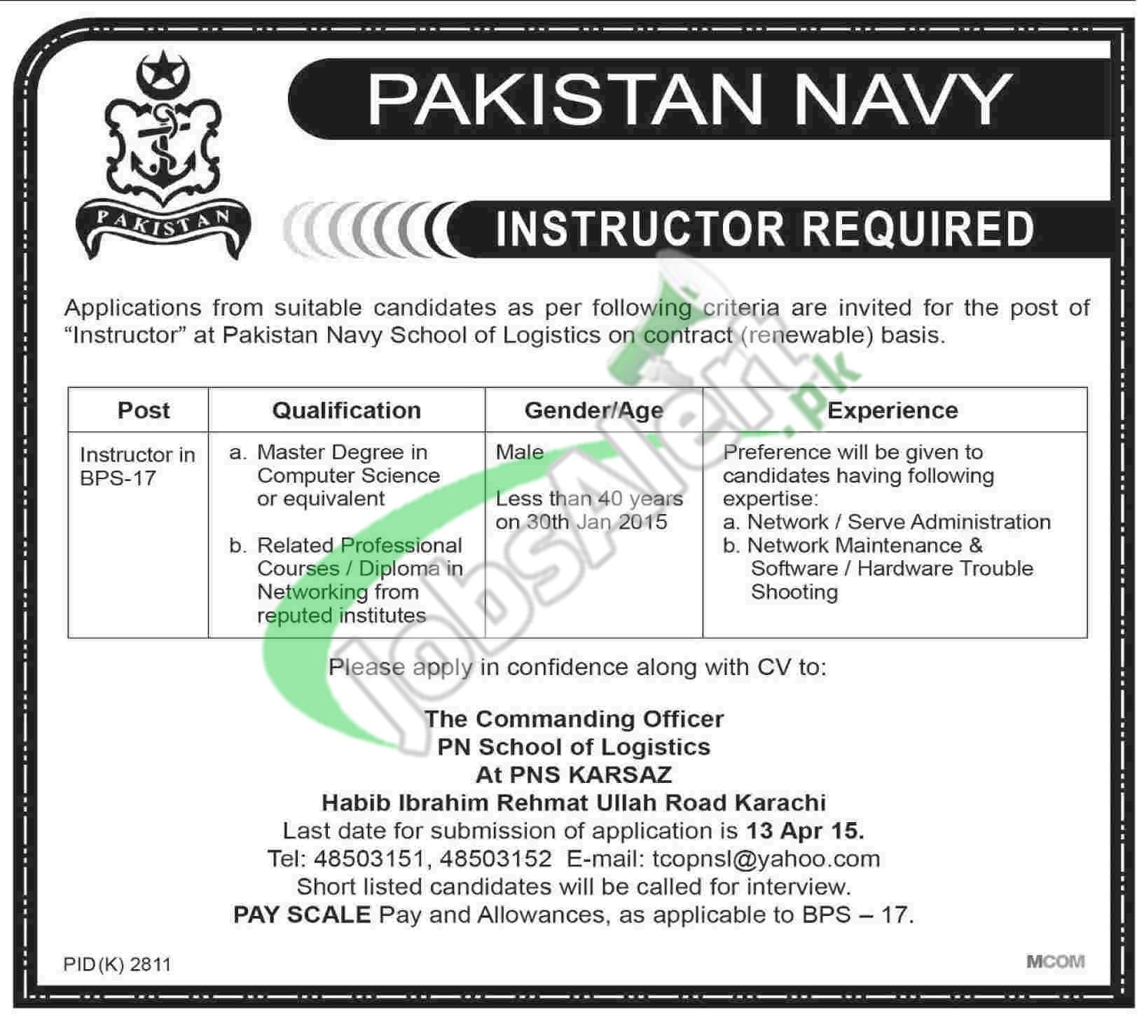 Pakistan Navy Jobs