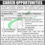 Ravi Chemical Complex Lahore Jobs