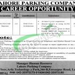 Lahore Parking Company Jobs 2015