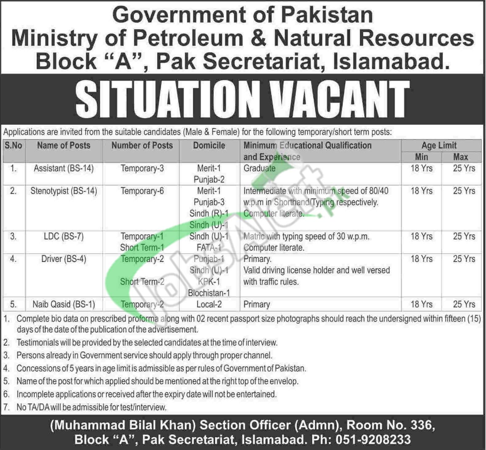 Ministry of Petroleum Jobs