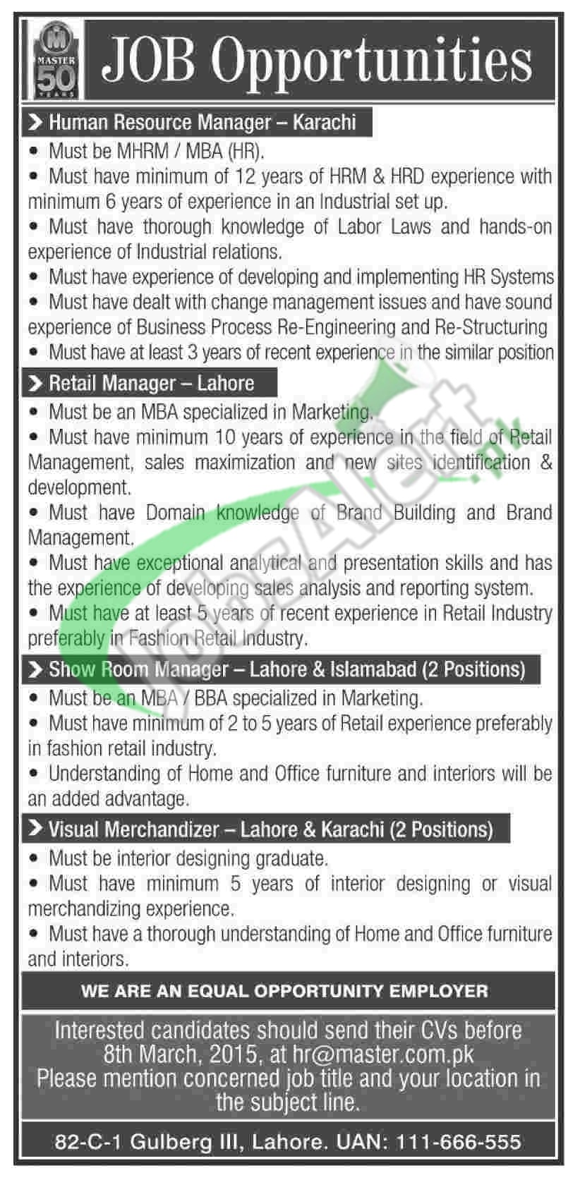 Masters Group of Industries Jobs