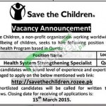 Save The Children Jobs
