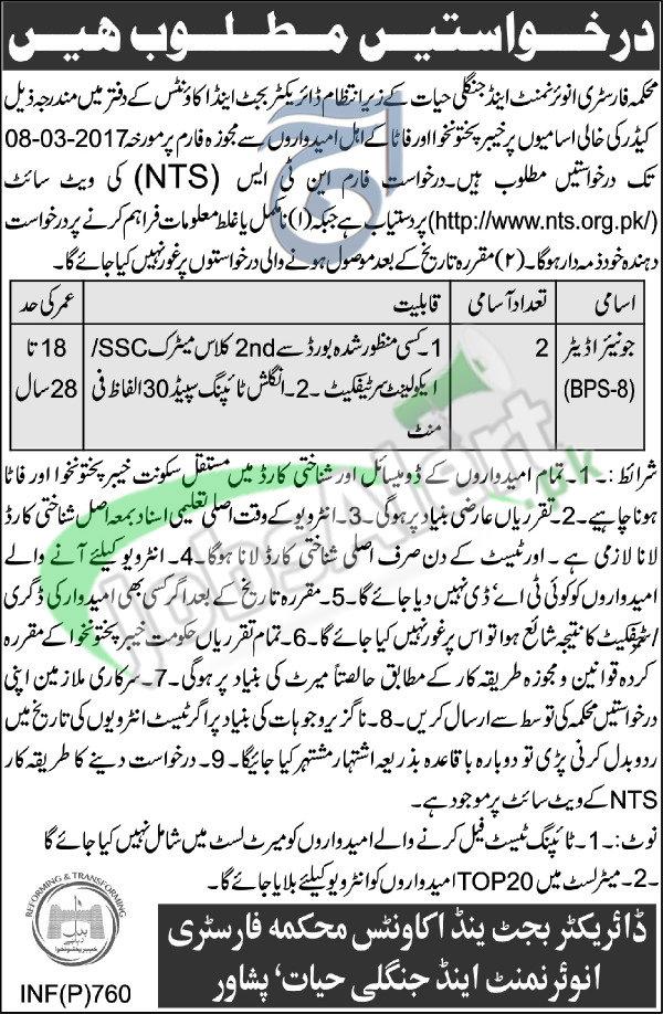 Forestry Enviroment & Wildlife Department Peshawar