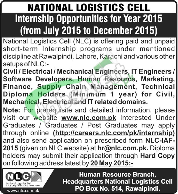 NLC Internship Program