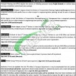 Transport Planning Unit Lahore Jobs