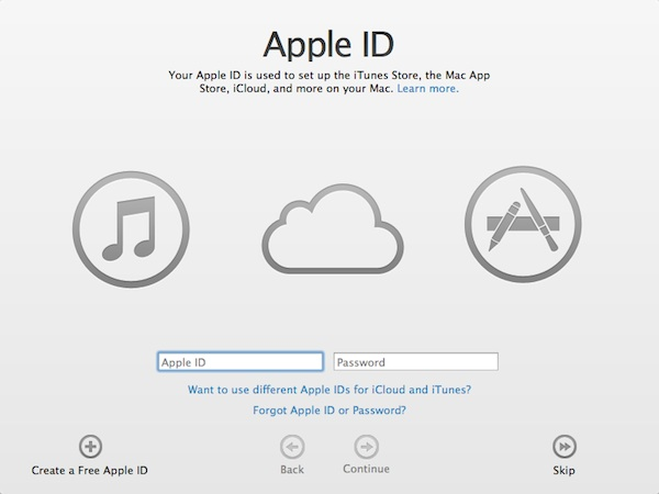 Create an Apple account