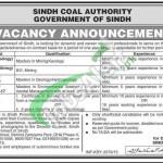 Sindh Coal Authority Jobs