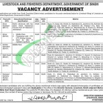 Livestock and Fisheries Department Sindh Jobs