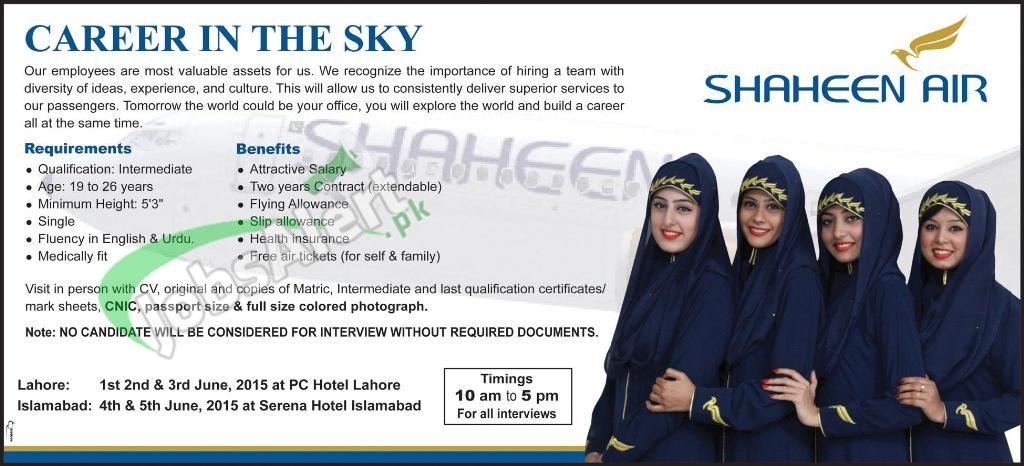 Shaheen Air Jobs