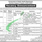 Health Department Sindh Jobs