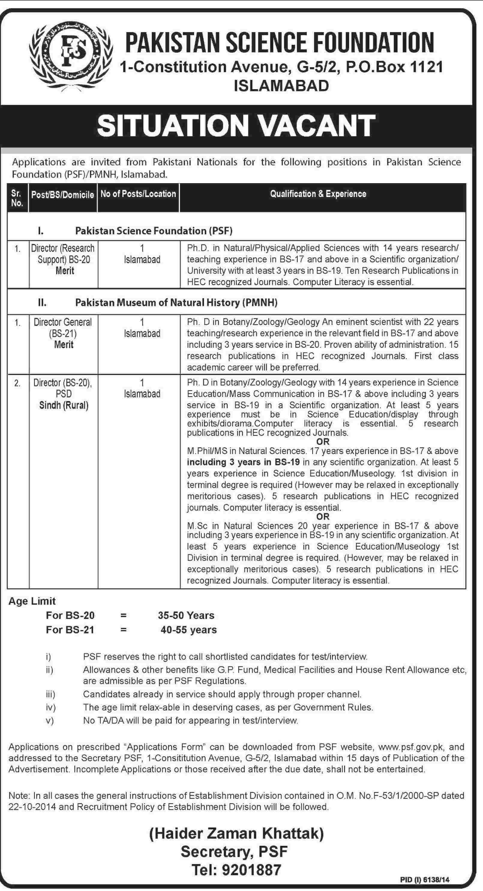 PSF Jobs