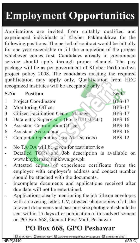Govt Jobs in KPK