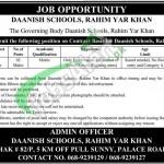 Jobs in Daanish School Rahim Yar Khan