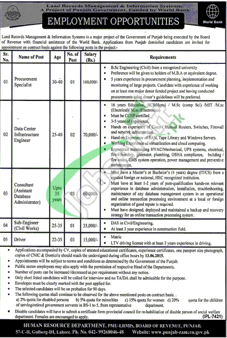 board of revenue punjab pdf