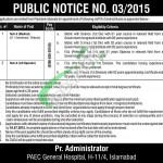Jobs in PAEC Hospital Islamabad